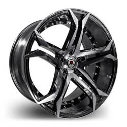 Marquee 3284 smoked polish/ black 20 inch Rims & Tires Fit 5 X 120