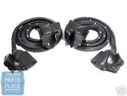 1980-85 Cadillac Seville Front Door Weatherstrip - Pair - Lm18r