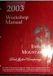 2003 Ford Explorer Mercury Mountaineer SUV Service Shop Repair Manual BRAND NEW