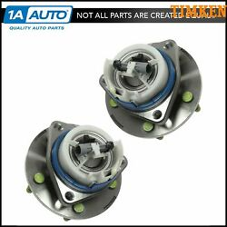 Timken 513179 Front Wheel Hub And Bearing Assembly Set Pair For Gm Car Van W/ Abs