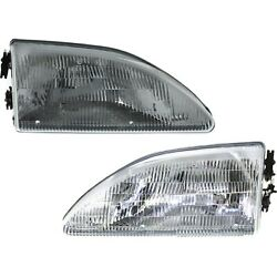 Headlight Set For 94 95 96 97 98 Ford Mustang Left and Right With Bulb 2Pc