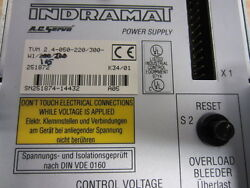 Indramat TVM 2.4-050-220/300-W1/115/220 A.C. Servo Power Supply