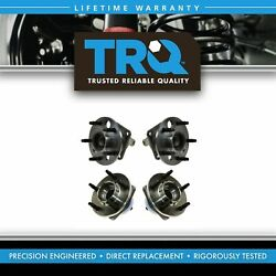 Trq Wheel Bearing And Hub Front And Rear Kit Of 4 For Buick Chevy Pontiac Saturn