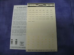 Vintage Micro Scale Decals By Studio No.72-19 German Ww2 Panzer And Inf. Divs.