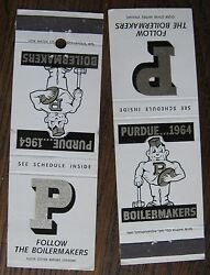 1964 Purdue Boilrmakers Matchcover Football Schedule Lot Of Two