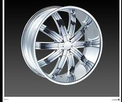 24 Red Sport Rsw11 Wheels Rimsandtires Fit Chevyandford 6 And5 Lug Truck Or Suv Deal