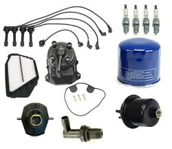 Ignition Tune Up Kit Filters Spark Plugs Wire Cap For Honda Odyssey 95-97 2.2l