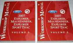 2007 FORD Explorer & Sport Trac Mountaineer Service Shop Manual SET NEW W EWD