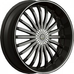 22 X 8 U2 29 Black Machine Wheel Rims And Tires Fit Car, Truck Or Suv Chevy Ford