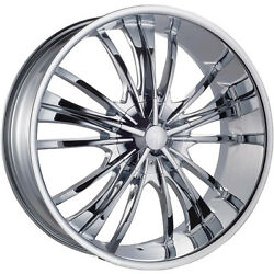 Red Sport 77 22 Inch Chrome Wheel Rims Fit Chevy Cadillac Gmc Armada Dodge Ford