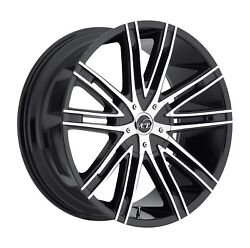 Vct V28 Black Machine 22 Wheels Rimsandtires Fit Ford Chevy Gmc 300 Charger