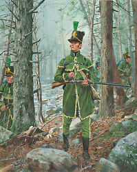 1st United States Rifle Regiment 1812 Don Troiani War Of 1812 Canvas Giclee