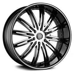 26 Inch Velocity V865 Black M Wheels And Tires Fit 6 X 139 Avalanche Tahoe Sierra