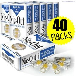 40 Nic-out Packs - Cigarette Filters Tar Nicotine 1200 Filters Wholesale