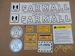 Farmall Super A Decal Set. All Decals On Tractor. Mylar. See Details