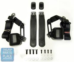 1968-73 Nova 3 Point Retractable Front Seat Belts With Gm Button Sbgm151000
