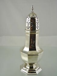 Plain Ribbed Sugar Castor Or Shaker By Wh And S Ltd London 1902