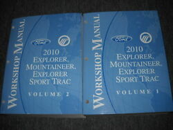 2010 FORD Explorer & SPORT TRAC Mountaineer SUV Repair Shop Service Manual NEW