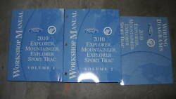 2010 FORD Explorer MERCURY Mountaineer Sport Trac Service Shop Manual Set W EWD