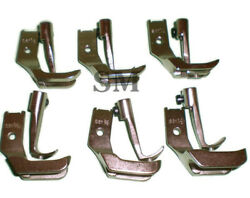 Consew 255rb Sewing Machine Welting Piping Walking Foot Set 6 Pairs