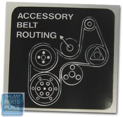 Gnx Grand National Turbo Accessory Belt Routing Decal