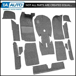For 1967-71 Bmw 1602 2 Door Cut And Sewn Cutpile 801-black Complete Carpet