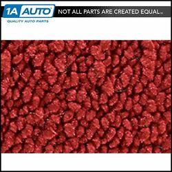 For 63 Chevy Corvette Roadster Cut And Sewn 80/20 Loop 02-red Complete Carpet Foam