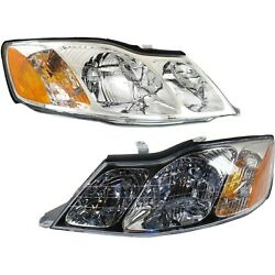 Headlights Headlamps Left And Right Pair Set New For 00-04 Toyota Avalon