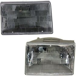 Headlights Headlamps Left And Right Pair Set For 93-98 Jeep Grand Cherokee