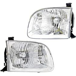Headlight Set Left And Right For Toyota 2001-04 Sequoia 00-04 Tundra Double Cab