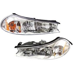 Headlight Set For 98-2000 Ford Contour Left And Right With Bulb 2pc