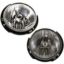 Headlight Set For 2007-2017 Jeep Wrangler Jk Left And Right With Bulb 2pc