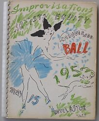 Improvisations Artists Equity Masquerade Ball May 15 1953 1969 Of 2000