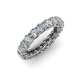Diamond with Side Gallery Eternity Band 3.40 ct tw to 4.00 ct tw in 14k Gold