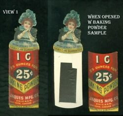2 Part Die-cut Girl On Ic Baking Powder W Hidden Sample Of Product C1880s