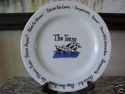 Pottery Barn Millennium Plate 8.25 The Teens Sinking Titantic Votes For Women
