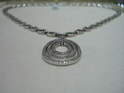 FINE ITALIAN DESIGNER DIAMOND NECKLACE HAND MADE ONE OF A KIND 2.50 CARATS WOW!!