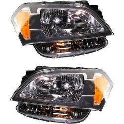 Headlight Set For 2010-2011 Kia Soul Left And Right With Bulb 2pc