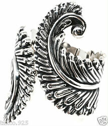 Taxco Mexican Sterling Silver Floral Flower Fern Leaf Clamper Bracelet Mexico