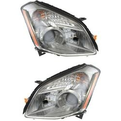 Halogen Headlights Headlamps Left And Right Pair Set New For 07-08 Nissan Maxima