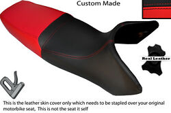 Black And Bright Red Custom Fits Yamaha Gts 1000 Dual Leather Seat Cover Only