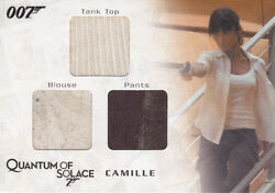 James Bond Archives Camilleand039s Tank Top Blouse And Pants Triple Costume Card Qc05