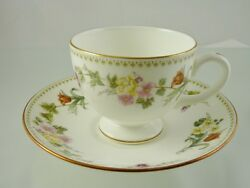 Mirabelle R4537 Cup And Saucer Footed By Wedgwood England