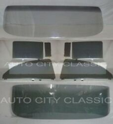 57 Chev 2 Door Sedan Windshield Assm Vent Door Quarter and Rear Back Glass Grey