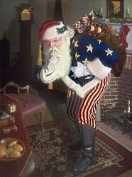 The Promise Of Peace And Tranquility - Father Christmas During The Civil War