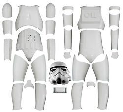 Star Wars Stormtrooper Costume Armour - Kit Version 2 With Helmet From Uk