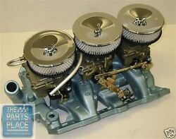 1966 Gto / Bonneville / Catalina Full Size Complete Tri-power Set Up Cast Iron