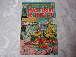 The Hands Of Shang Chi Masters Of Kung Fu 1970's Marvel Comic 28 May T