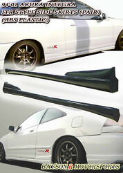 Optional Tr-style Side Skirts Pp Fits 94-01 Integra 2dr
