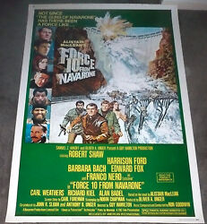 Force 10 From Navarone Orig Large Rolled 40x60 Poster Harrison Ford/robert Shaw
